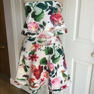 NWT ASOS Floral Strapless Dress